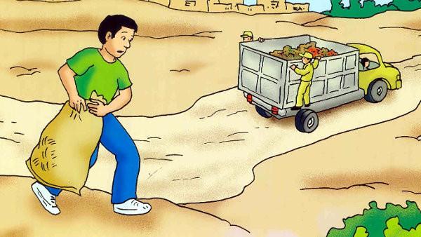 Cuídate de los camiones de basura