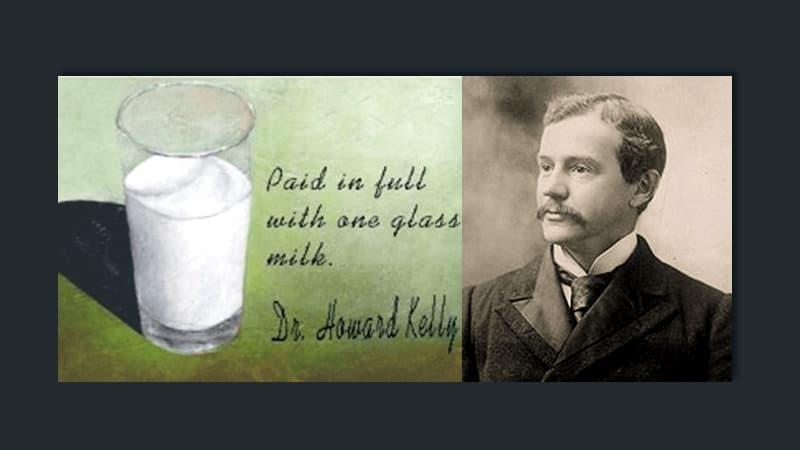 Pagado con un vaso de leche