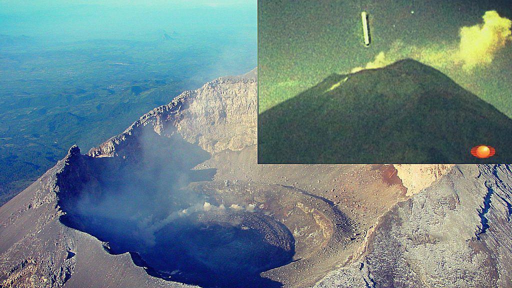 Objeto misterioso entra en el cráter del Volcán Popocatépetl