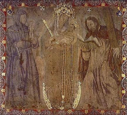 Imagen original de la Virgen de Chiquinquirá