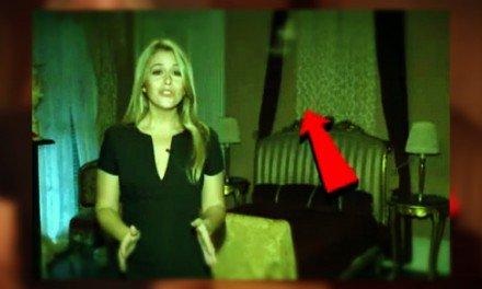 Reportera captura posible fantasma en video