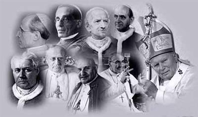 La relación de los últimos papas con el poder