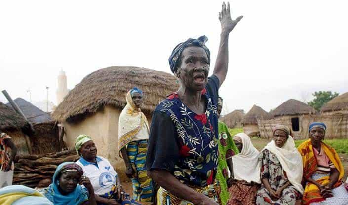 Campamentos para Brujas Ancianas en el norte de Ghana