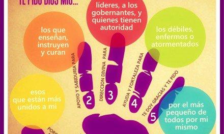 Rezar con los 5 dedos