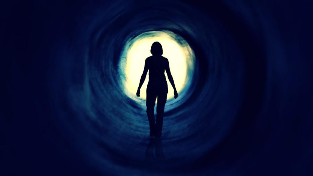 La luz al final del túnel al momento de morir
