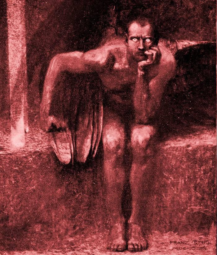 """El """"Lucifer"""", de Franz von Stuck (1863-1928), da la sensación de estar más cerca de nosotros"""