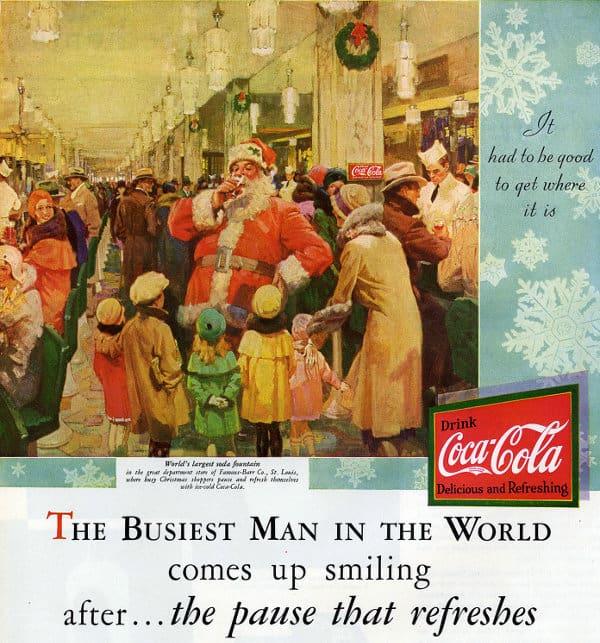 1er Campaña Publicitaria de Coca Cola de Santa Claus