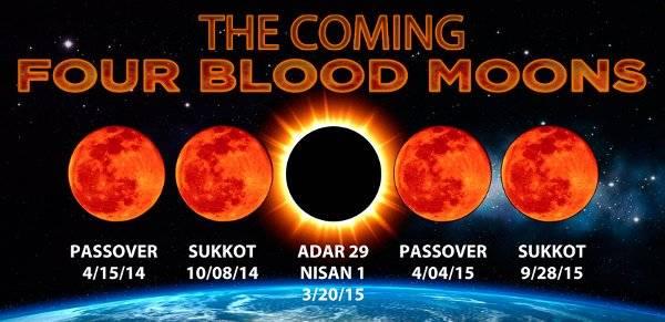 """Profecías de las 4 """"Lunas rojas Tétradas"""" de Sangre"""