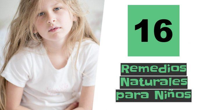 Los mejores remedios naturales para tus niños