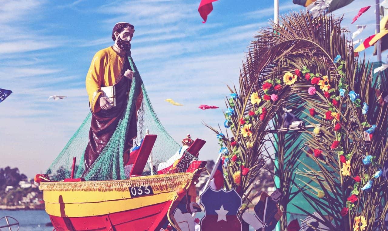 Fiesta de los pescadores en Chile