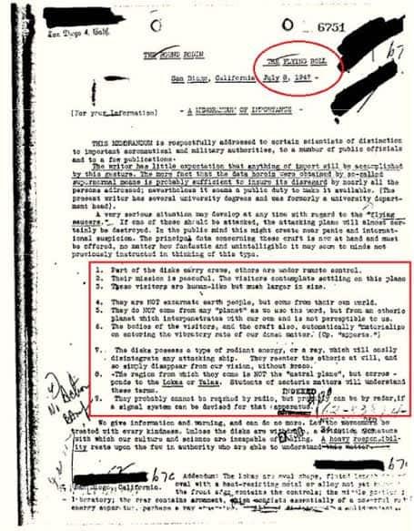 Infomorme FBI Ufo
