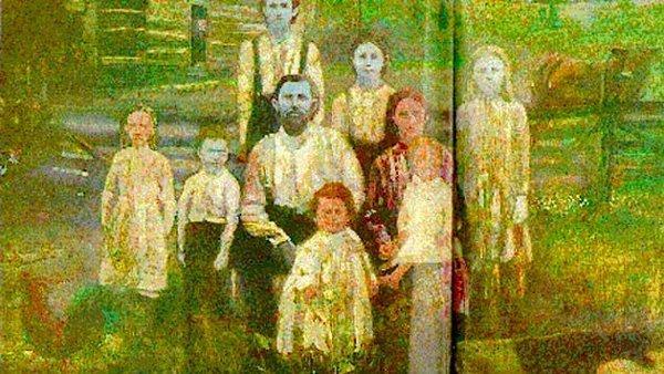 familia azul en Kentucky