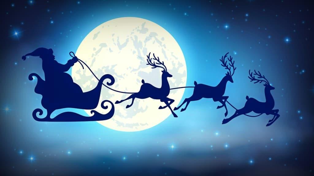 Luna Llena de la Navidad Año 2015