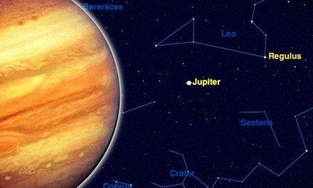Ver a Júpiter sin binoculares ni telescopios