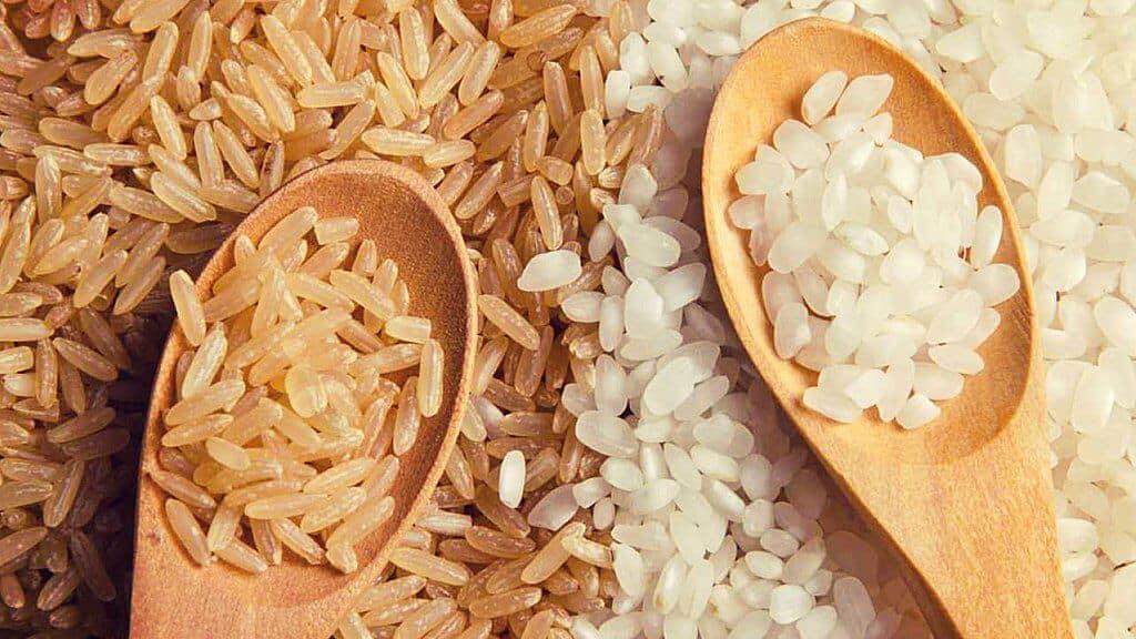 diferencia entre el arroz blanco y el integral