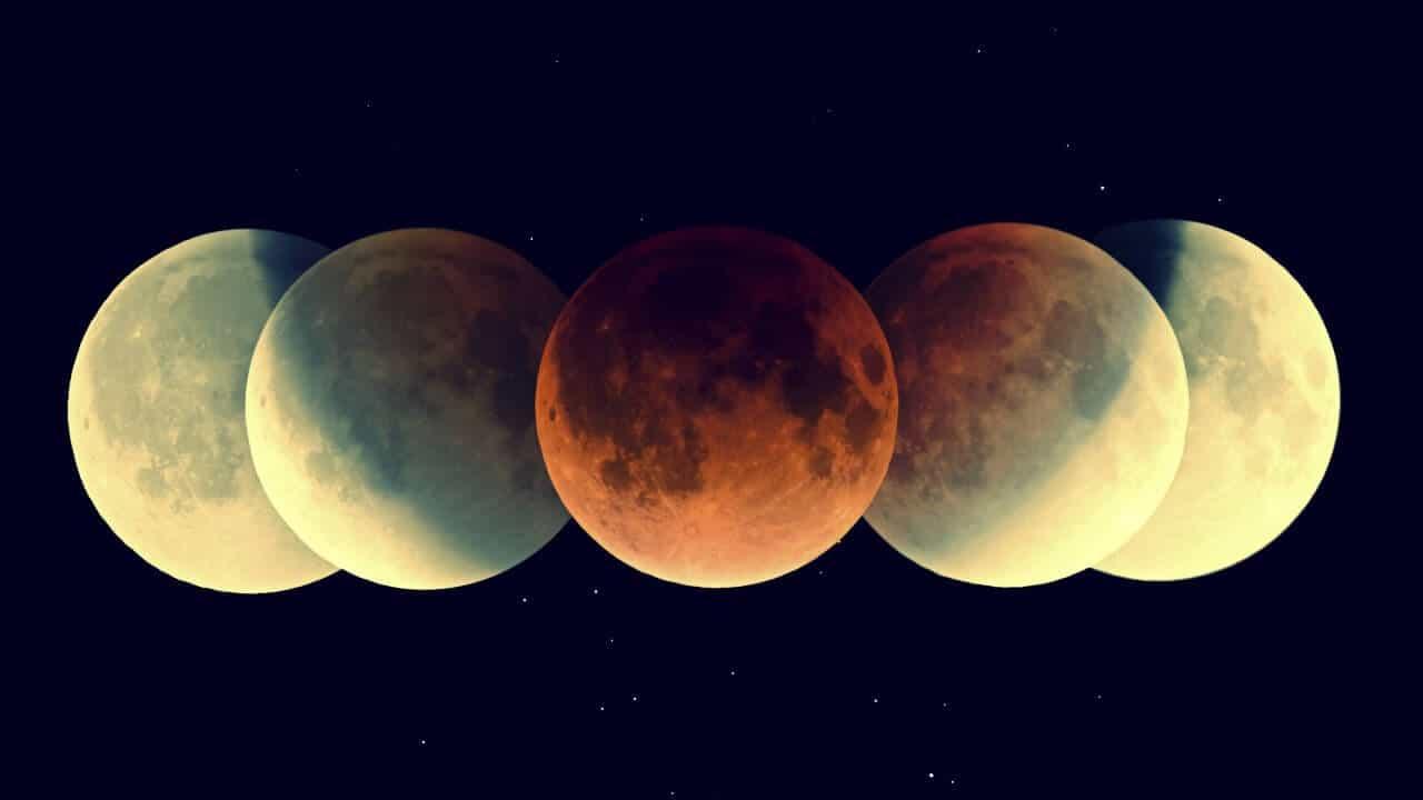 Influencia en el cuerpo, según las cuatro fases lunares