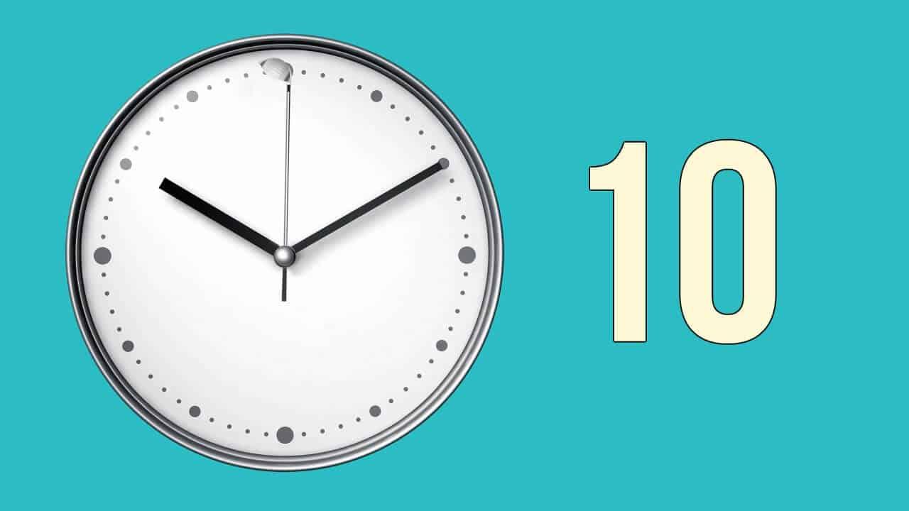 La regla de los diez segundos