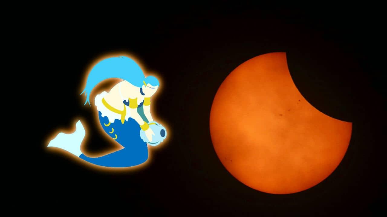 Eclipse de Sol en Acuario 15 de Febrero 2018