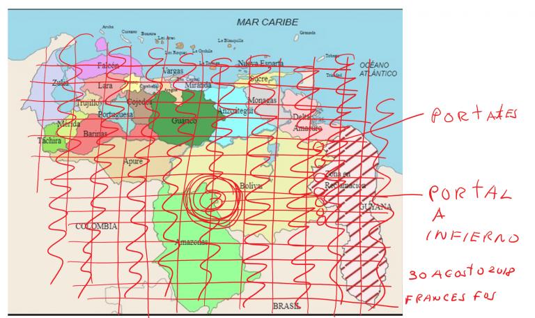 Mapa Energías Espirituales en Venezuela