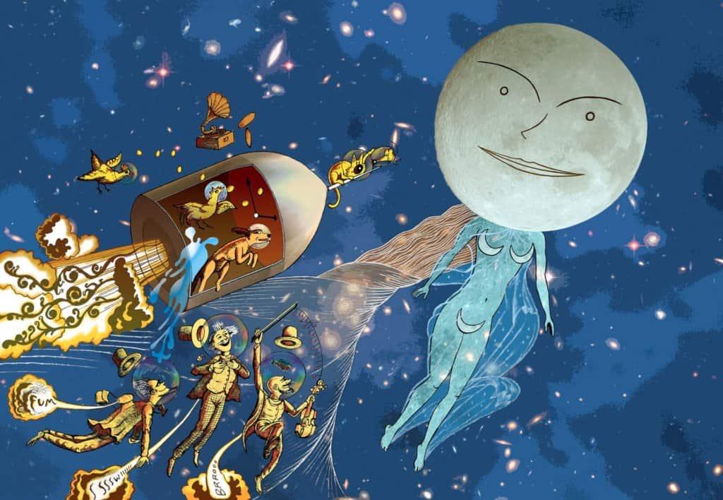 Luna con Neptuno en Piscis