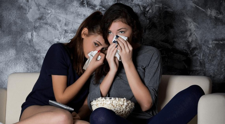Personas que lloran en las películas