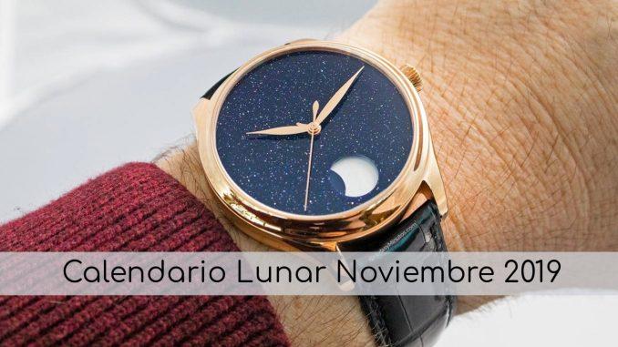 Calendario y Fases Lunares Noviembre 2019