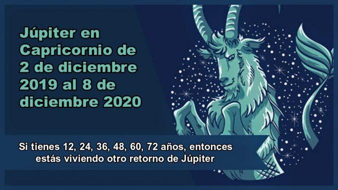Júpiter en Capricornio de 2 de diciembre 2019 al 8 de diciembre 2020