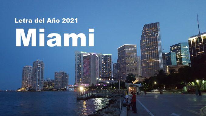 Letra del Año 2021 Miami